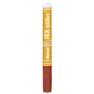 TEX GLITTER Marker, 145 x 13 x 13 mm, 6 ml, zinnoberrot