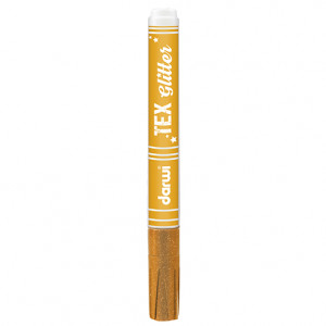 TEX GLITTER Marker, 145 x 13 x 13 mm, 6 ml, orange