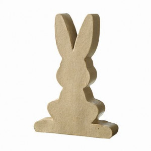 Hase Silhouette, frontal, 11 x 7,7 x 2 cm