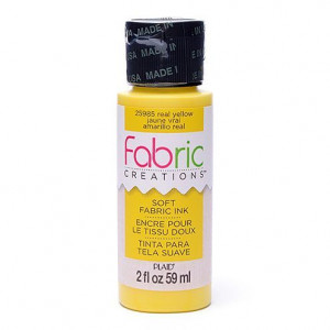Fabric Creations™ Stempelfarbe, 59 ml, real yellow